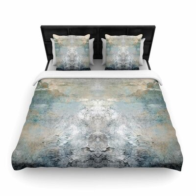 Pia Heaven II Mixed Media Abstract Woven Duvet Cover Size: King