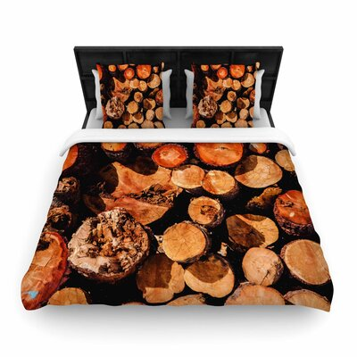 Juan Paolo the Lumber Yard Woven Duvet Cover Size: Twin
