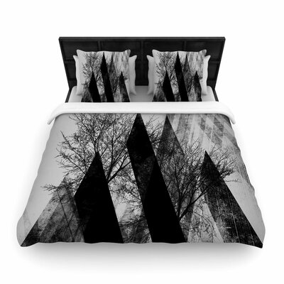 Pia Schneider Trees V2 Woven Duvet Cover Size: Twin