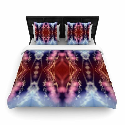 Pia Schneider Abstract Floral Nature Woven Duvet Cover Size: King