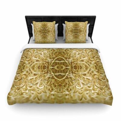 Pia Schneider Cornfield Pattern, Ocker Pattern Woven Duvet Cover Size: Twin