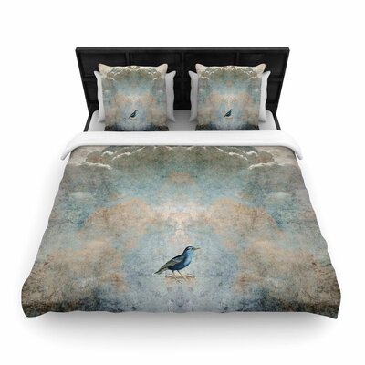 Pia Schneider Heavenly Bird Animals Woven Duvet Cover Size: Twin