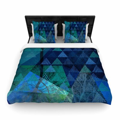 Pia Schneider Triangles Melange Woven Duvet Cover Size: Full/Queen