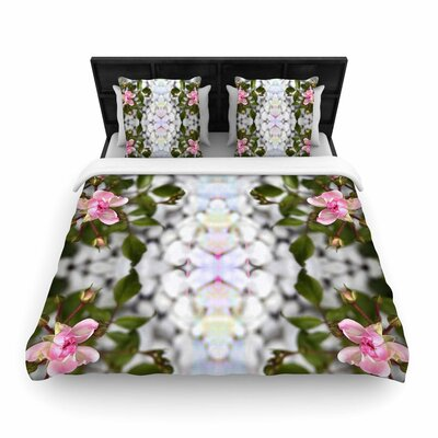 Pia Schneider Roses l Woven Duvet Cover Size: Twin