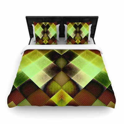 Pia Schneider Squares Woven Duvet Cover Size: Full/Queen
