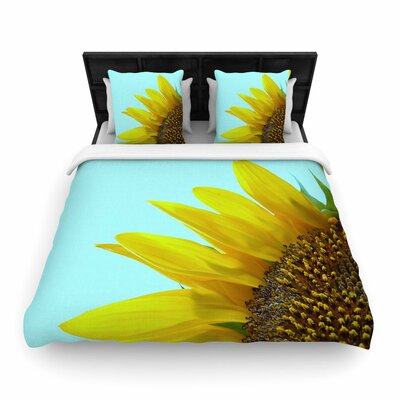 Richard Casillas Sunflower Woven Duvet Cover Size: Twin