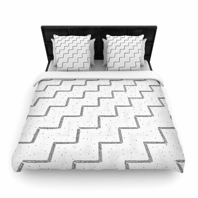 Richard Casillas Speckled ZigZag Woven Duvet Cover Size: King