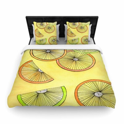 Rosie Brown Fruit Woven Duvet Cover Size: King