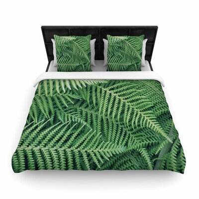 Richard Casillas Ferns Woven Duvet Cover Size: King