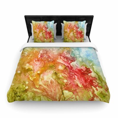 Rosie Brown Fantasy Garden Painting Woven Duvet Cover Size: King