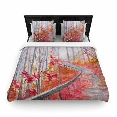 Rosie Brown Amicalola Falls Woven Duvet Cover Size: Twin