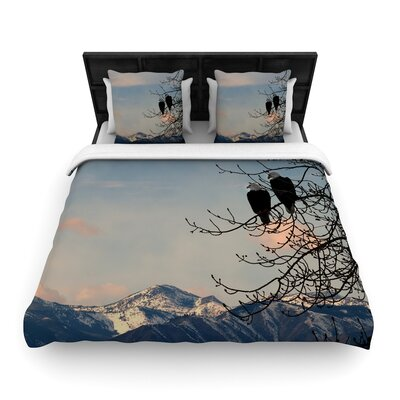 Robin Dickinson Majesty Nature Landscape Woven Duvet Cover Size: Twin