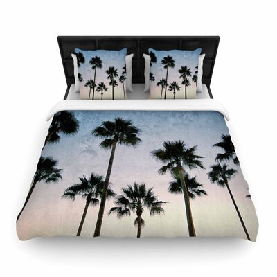 Richard Casillas Paradise Palms Woven Duvet Cover Size: Twin