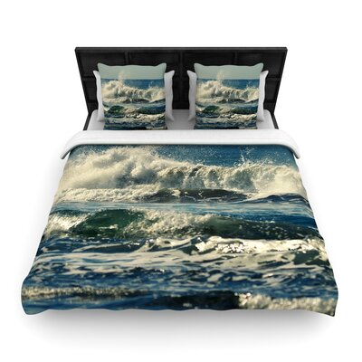 Robin Dickinson Forever Young Coastal Woven Duvet Cover Size: King