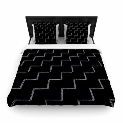 Richard Casillas ZigZags Night Woven Duvet Cover Size: King