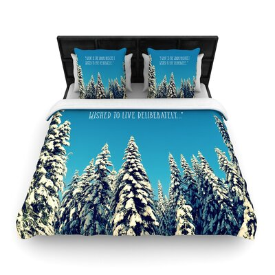 Robin Dickinson I Went to the Woods Woven Duvet Cover Size: King