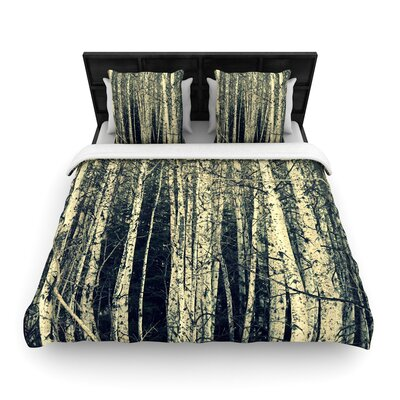 Robin Dickinson Birch Woven Duvet Cover Size: King