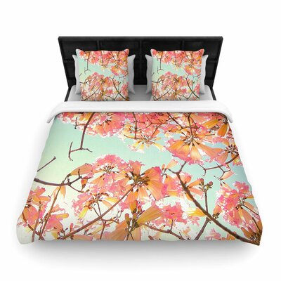 Richard Casillas Spring Splendor Woven Duvet Cover Size: King