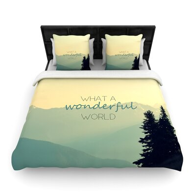 Robin Dickinson What a Wonderful World Woven Duvet Cover