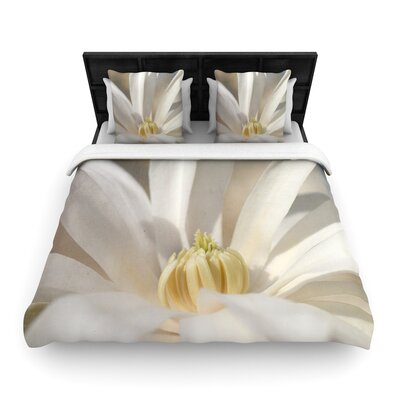 Robin Dickinson First Signs Floral Woven Duvet Cover Size: Twin