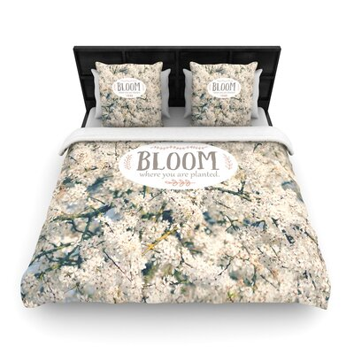 Robin Dickinson Bloom Where You Are Planted Floral Woven Duvet Cover Size: King