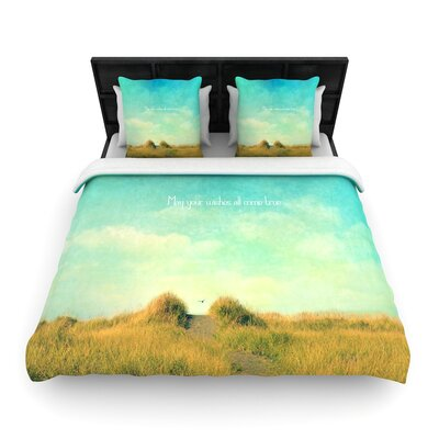 Robin Dickinson May Your Wishes Woven Duvet Cover Size: King