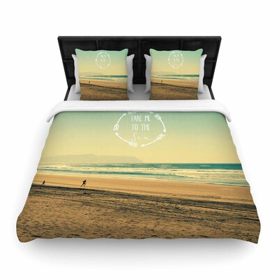 Robin Dickinson Take Me to the Sea Woven Duvet Cover Size: King