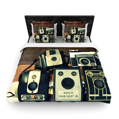 Robin Dickinson Through the Years Vintage Camera Woven Duvet Cover Size: Twin