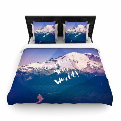 Robin Dickinson Explore Your World! Woven Duvet Cover Size: King