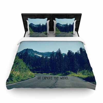 Robin Dickinson Go Explore the World Woven Duvet Cover Size: Twin