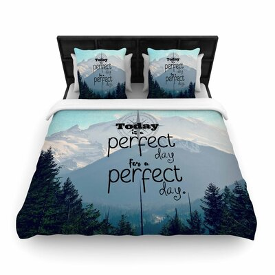 Robin Dickinson a Perfect Day Woven Duvet Cover Size: Full/Queen