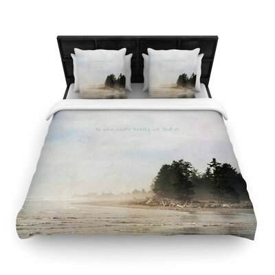 Robin Dickinson He Who Seeks Beauty Coastal Woven Duvet Cover Size: Full/Queen