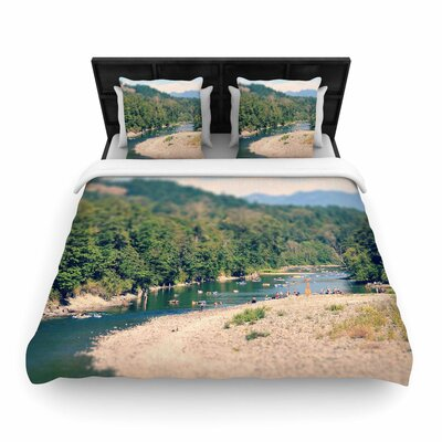 Robin Dickinson Summertime Float River Woven Duvet Cover Size: King