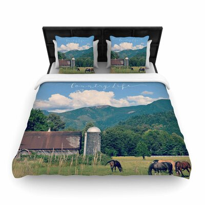 Robin Dickinson Country Life Woven Duvet Cover Size: King