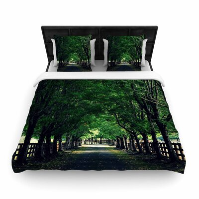 Robin Dickinson Welcome Home Trees Woven Duvet Cover Size: Twin