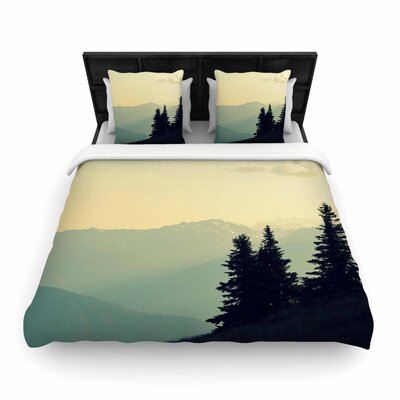 Robin Dickinson a Wonderful World Landscape Woven Duvet Cover Size: Twin
