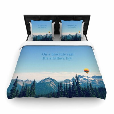 Robin Dickinson Its a Helluva Life Mountain Woven Duvet Cover Size: Full/Queen
