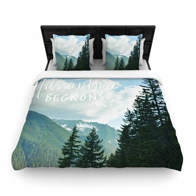 Robin Dickinson Adventure Beckons Nature Landscape Woven Duvet Cover Size: Full/Queen