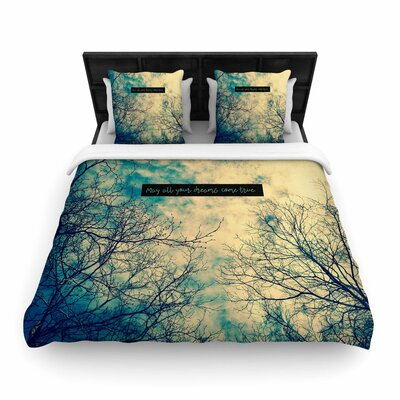 Robin Dickinson May All Your Dreams Come True Nature Woven Duvet Cover Size: Full/Queen