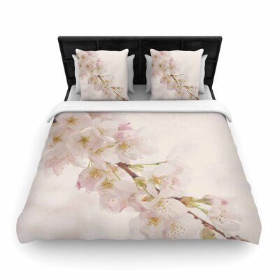 Robin Dickinson Its That Time Floral Photography Woven Duvet Cover Size: King