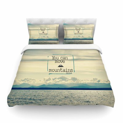 Robin Dickinson You Can Move Mountains Photography Featherweight Duvet Cover Size: Twin