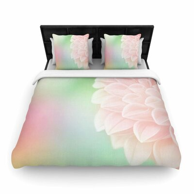 Robin Dickinson Sweet Floral Woven Duvet Cover Size: King