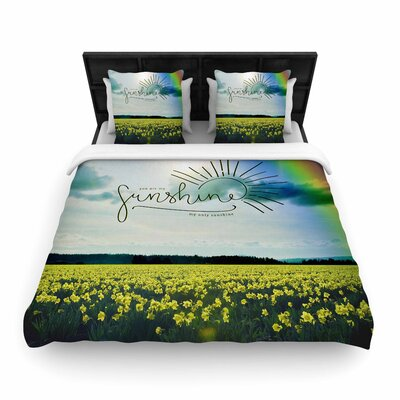 Robin Dickinson You are My Sunshine Woven Duvet Cover Size: King