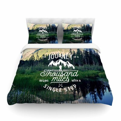 Robin Dickinson the Journey Photography Featherweight Duvet Cover Size: Twin