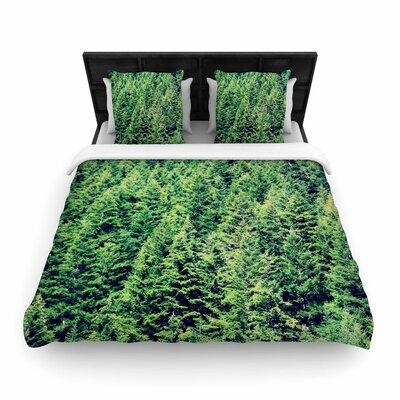 Robin Dickinson Summertime Woodlands Woven Duvet Cover Size: Twin