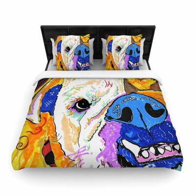 Rebecca Fisher Tucker Bulldog Woven Duvet Cover Size: King