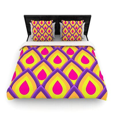 Roberlan Pineapple Woven Duvet Cover Size: Full/Queen