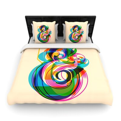 Roberlan Champersands Digital Typography Woven Duvet Cover Size: Full/Queen