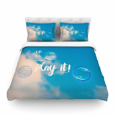 Robin Dickinson Life Is a Game Photography Featherweight Duvet Cover Size: King