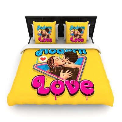 Roberlan Modern Love Woven Duvet Cover Size: Full/Queen